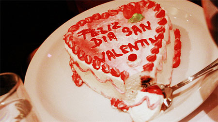 Tres Leches cake for El Rancho Grande's Valentine's Day dinner