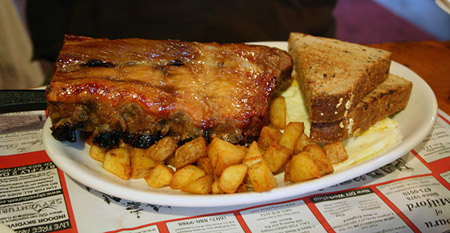 Ribs for Breakfast at Parkers Maple Barn
