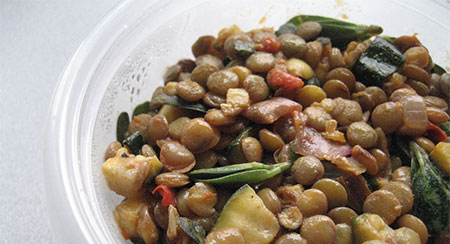 Purslane Lentil Salad