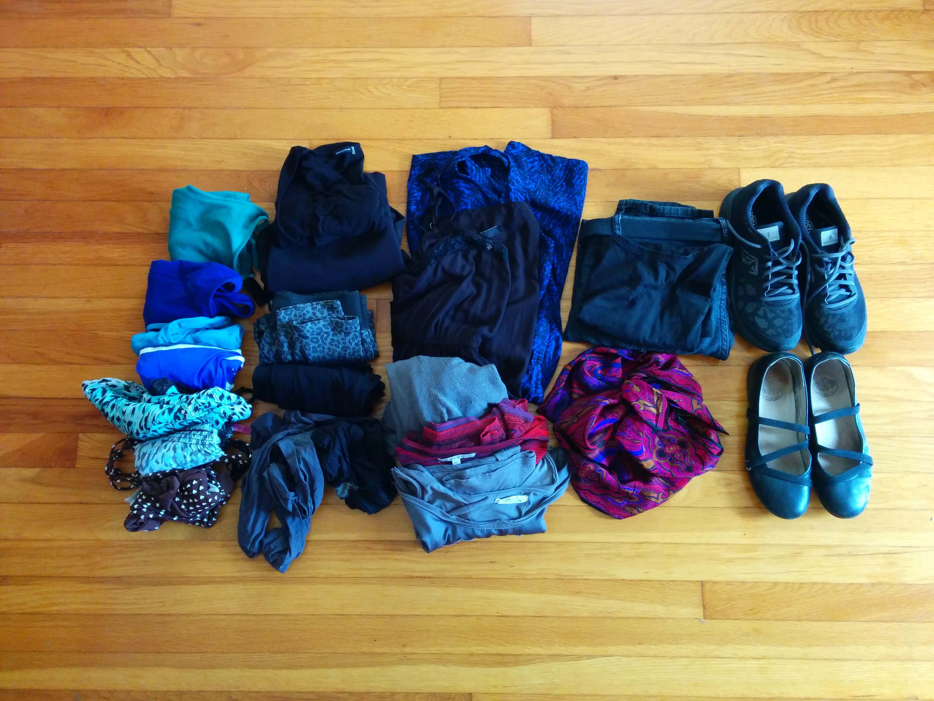 Clothes for a 2-week trip to Europe